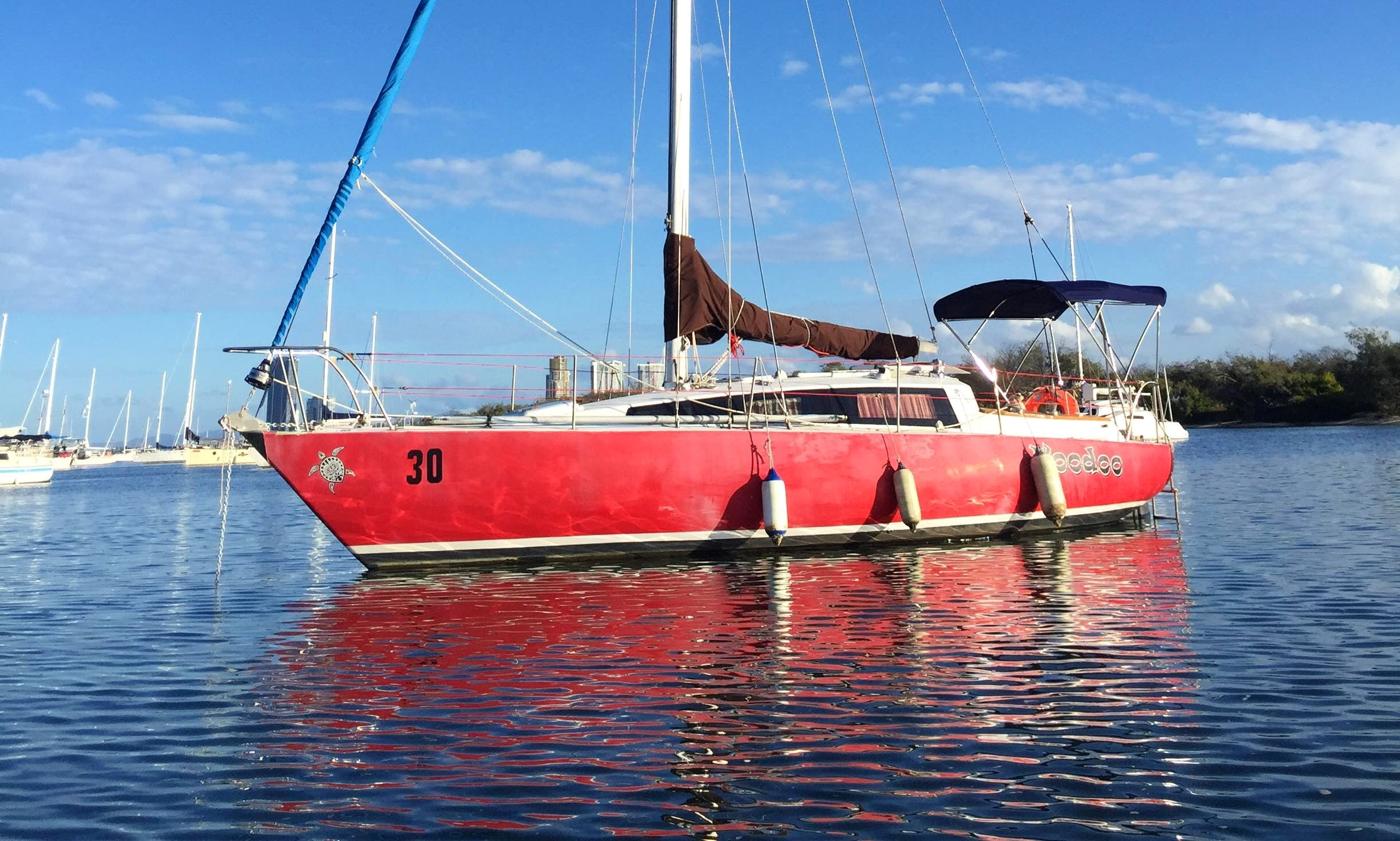 Sloop sailboat for hire in Shorncliffe, Australia