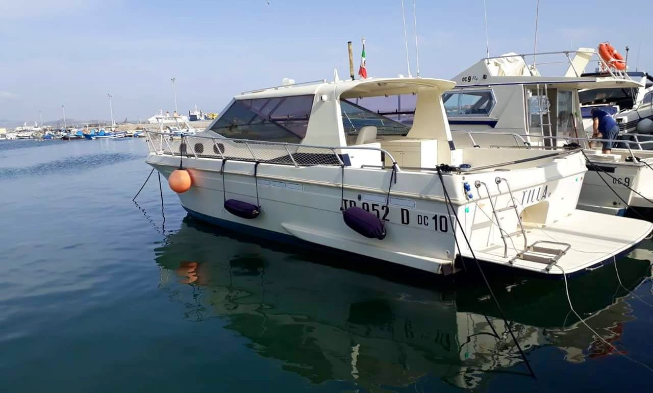 16 Person Covered boat rental in Trapani, Italy