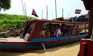 Sightseeing on Traditional Canal Boat in Siem Reap Province, Cambodia