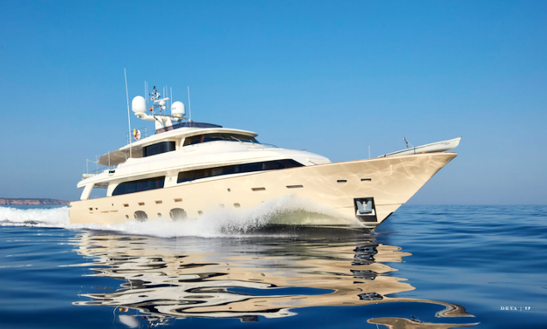 Experience The Luxury And Comfort On This 108' Deva Power Mega Yacht In Eivissa, Spain