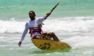Enjoy Kitesurfing in Christ Church, Barbados with Roland