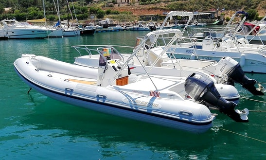 Explore Beautiful Sicilia Coastlines On Led Gs 590 Rib