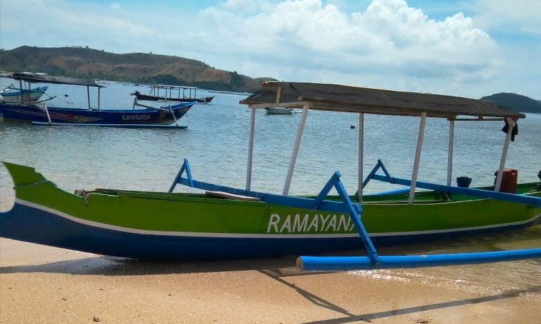 Traditional Boat For 6 people in Gerupuk, South Lombok Indonesia