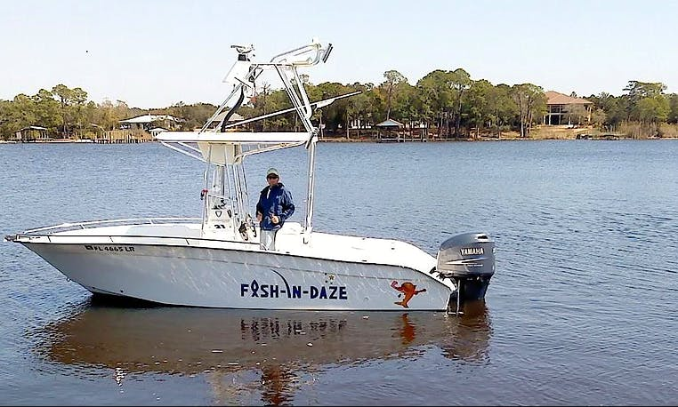 """Let's Go Fishing in Destin, Florida on this 22ft """"Fish-IN-Daze"""" Boat"""