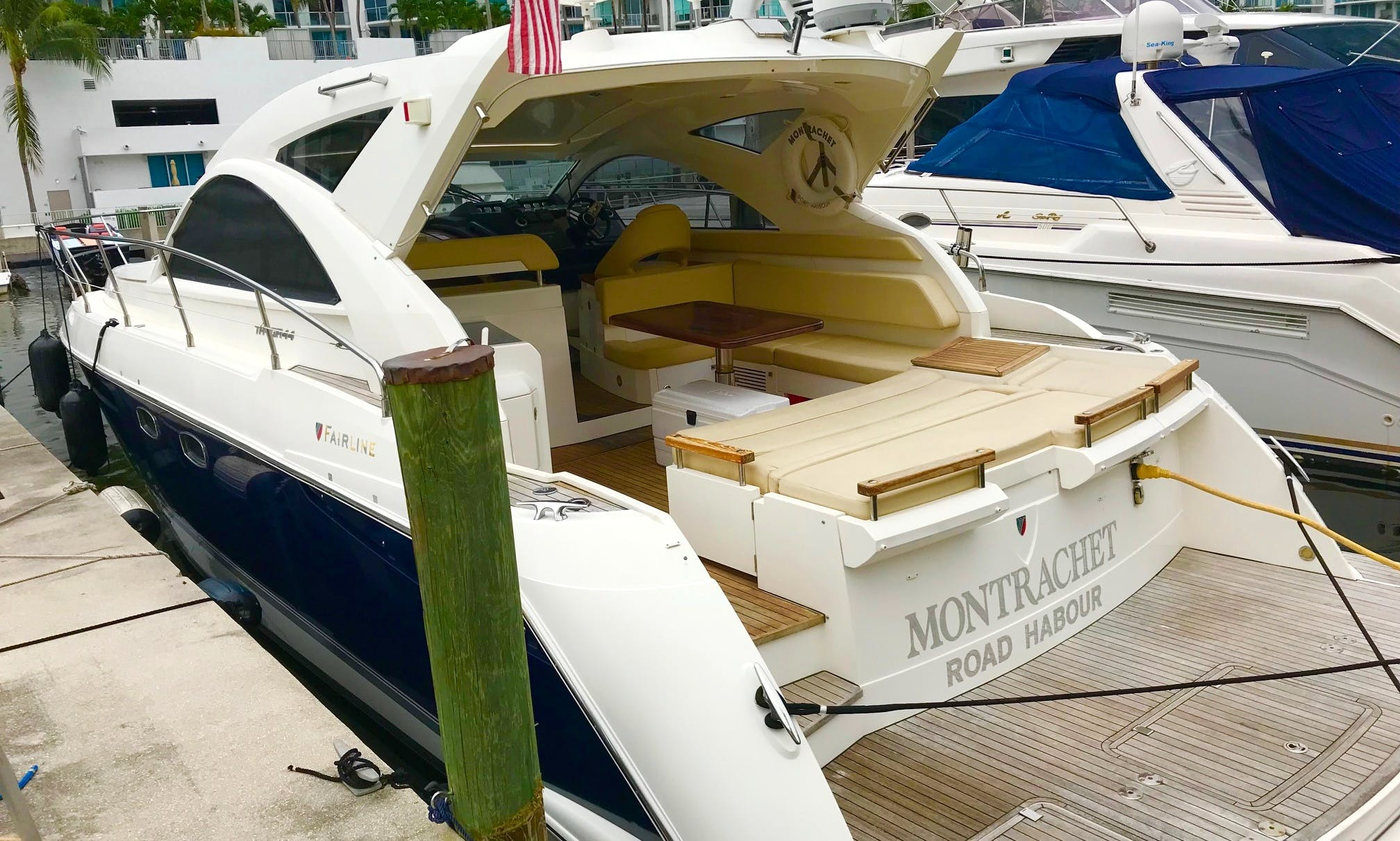 2011 Motor Yacht rental that fits 11 people in Sunny Isles Beach