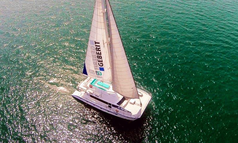 Charter 64 Feet Catamaran For 50 People in Dubai, United Arab Emirates