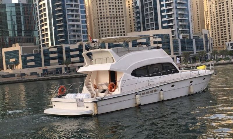 45 Person Al Shaali Power Mega Yacht Charter in Dubai, United Arab Emirates