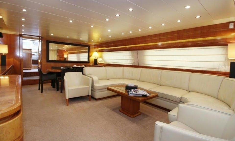 Charter the yacht of your dreams Possilipo Technema 80 in Dubai, United Arab Emirates