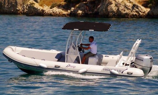 22' Highfield Patrol Rigid Inflatable Boat In Sukošan, Croatia For Charter