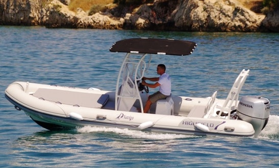 22' Highfield Patrol Rigid Inflatable Boat In Sukošan, Croatia For Charter