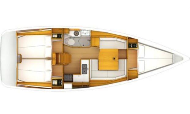 Enjoy Sailing on 38' Sun Odyssey Cruising Monohull in Sukošan, Croatia
