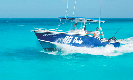 Go Fishing On This 10 Persons 31' Off Duty Center Console In Cancún, Mexico