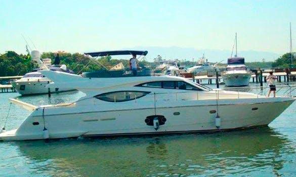 An amazing charter experience in Angra dos Reis, Brazil on Ferretti 60 Power Mega Yacht
