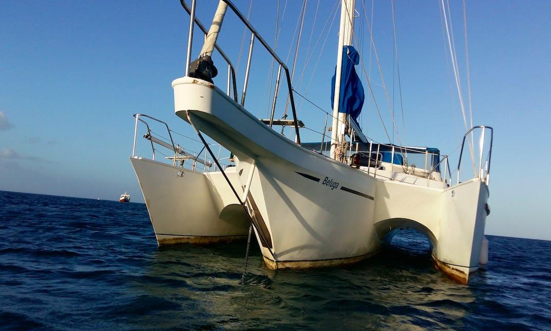 ADVENTURE on 55ft Trimaran in Caribbean