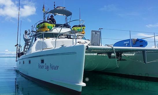 Charter 40 Ft Power Catamaran For Fishing, Scuba Diving & Island Hopping In Zanzibar City, Tanzania