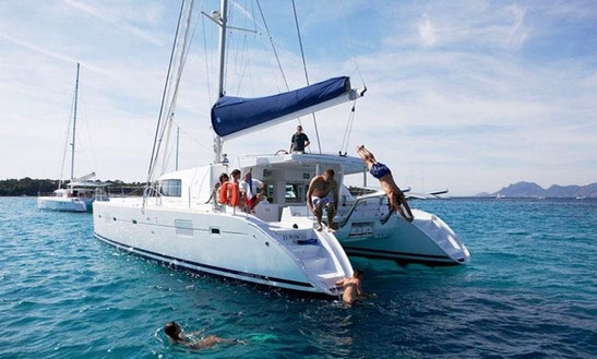 Experience The Thrill Of Sailing On Lagoon 500 Cruising Catamaran In Paleo Faliro, Greece