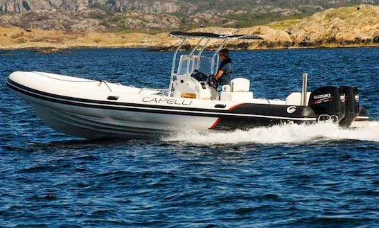 Hit The Water On Capelli 900 Rib In Cannigione, Sardegna