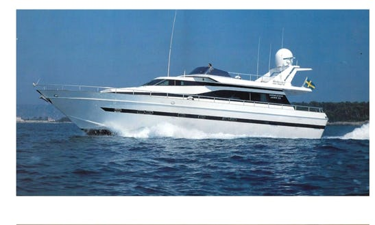 Explore The Ionian Sea Aboard A 68' Akhir De Pisa Power Mega Yacht Charter