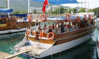 Daily rent this traditional boat in Kemer, Antalya, Turkey