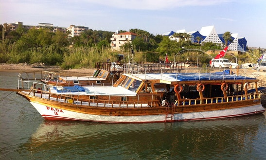 Charter This Huge Traditional Motor Yacht In Antalya, Turkey
