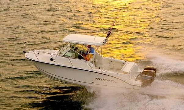 Trophy Pro 250 Cuddy Cabin Fishing Charter in Puerto Vallarta, Mexico