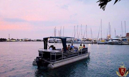 Cruising In Cartagena In 25 Ft Pontoon