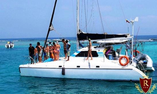 40 Ft Beach Catamaran Rental In Cartagena