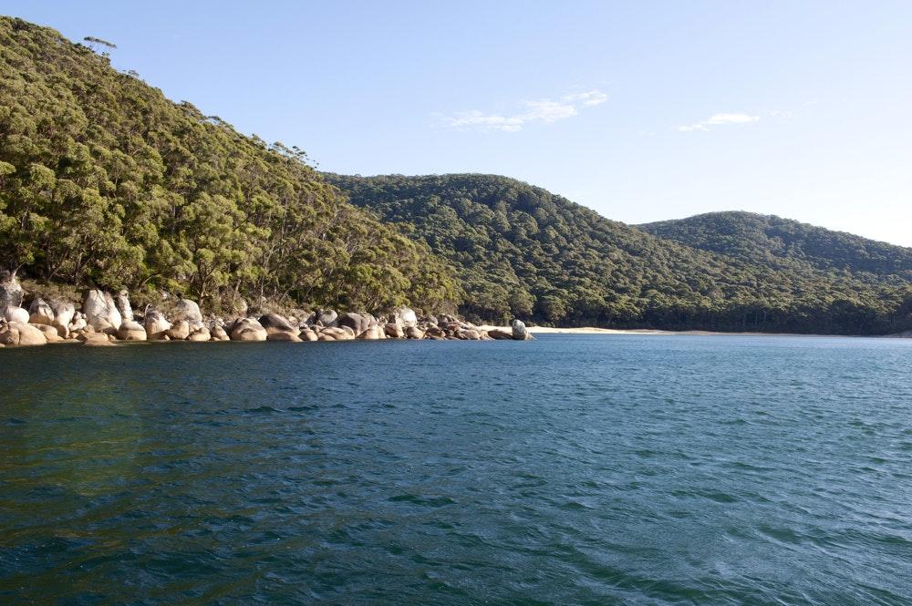 Remote beach in Refuge Cove Australia