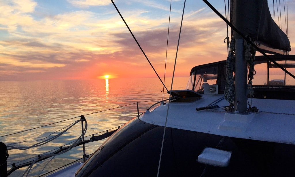 Sailing Catamaran In Miami, Florida