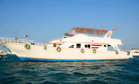 Explore Red Sea Governorate, Egypt On This 8 People Motor Yacht