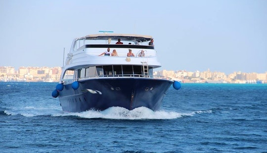 Charter This 36 People Motor Yacht Charter In Red Sea Governorate, Egypt