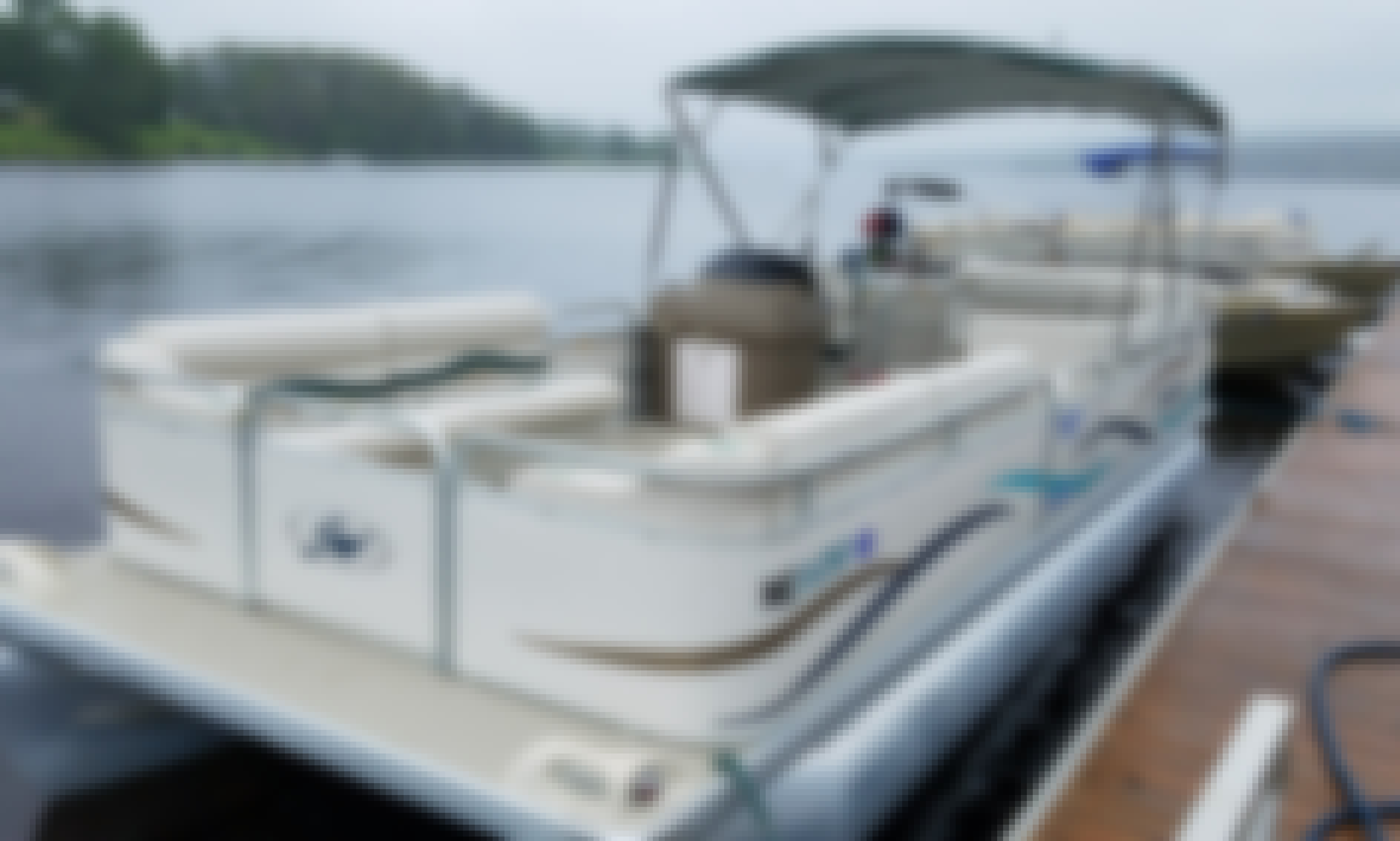 Explore Eagle Lake, Maine on this Sweetwater Pontoon