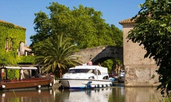 The Sunshine Cruise Aboard The 37' Motor Yacht In Canal Du Midi, France