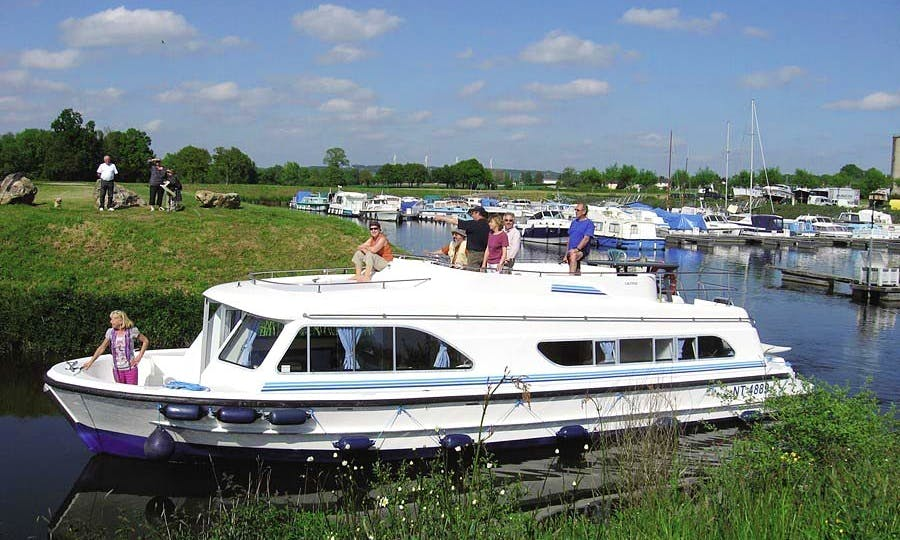The Medieval Markets Cruise Aboard a 43' Motor Yacht in Burgundy, France