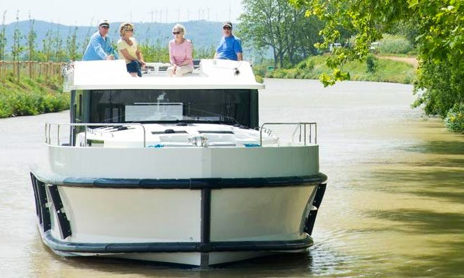 Explore the Beautiful Canals of France Aboard 48' Canal Boat for 12 People