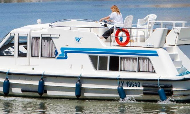 """Charter a 42ft """"Continentale"""" Canal Boat in Brittany, France for 6 person"""