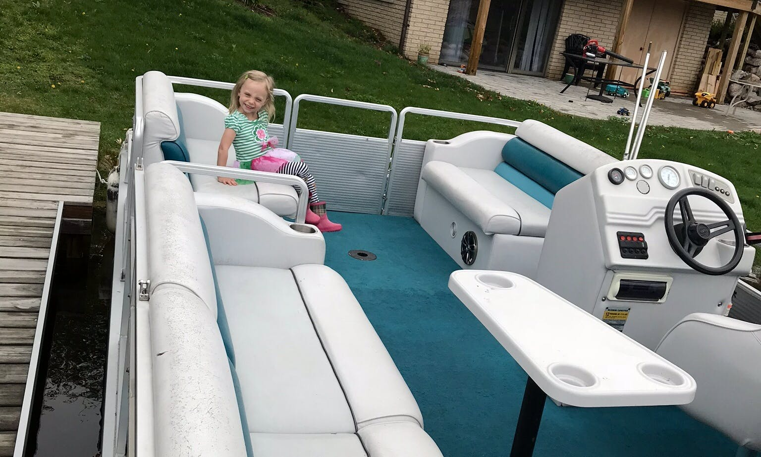 Pontoon in Highland Charter Township