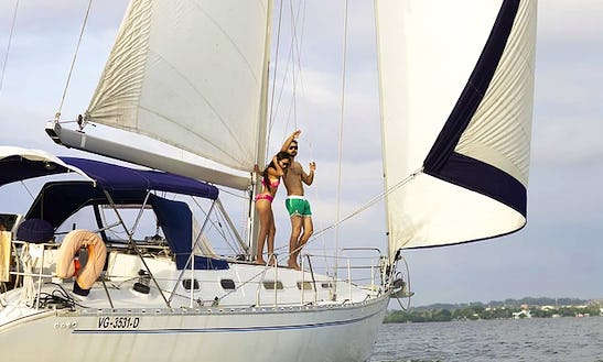 An Amazing Charter Experience On Dromor Athenas Cruising Monohull In Cartagena, Colombia