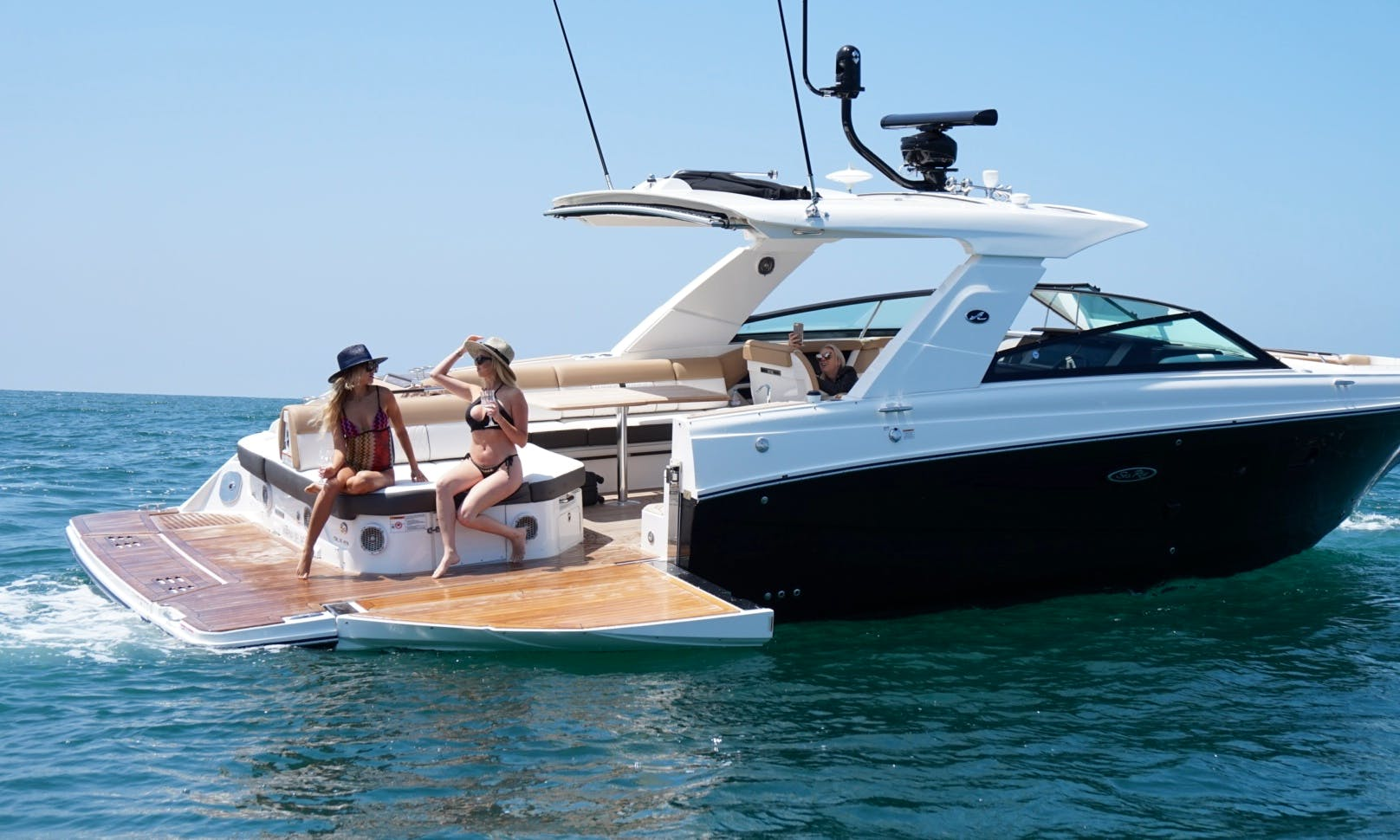 2017 Bowrider in Marina del Rey. This is a brand new design from SeaRay and it's Amazing!!!