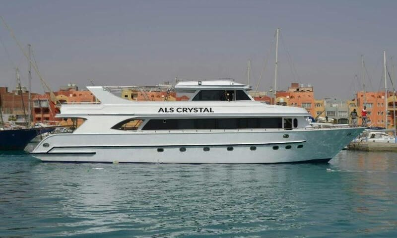 """Have an amazing time in Red Sea Governorate, Egypt on """"Crystal"""" Power Mega Yacht"""