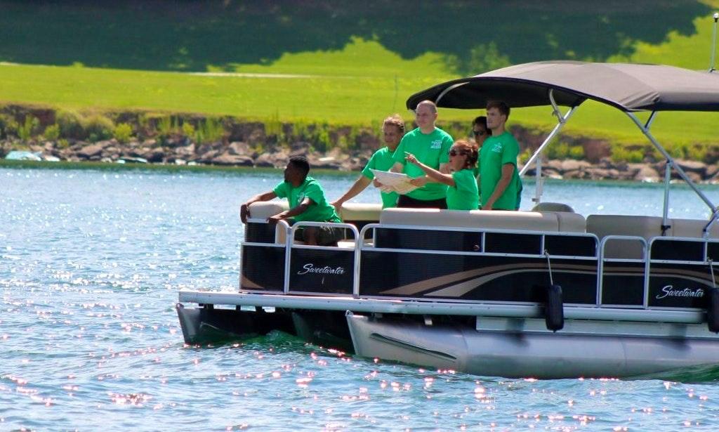 Pontoon on Lake Lanier