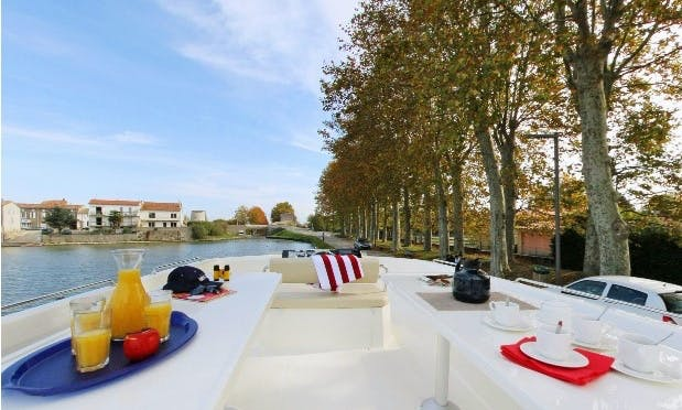 Elegant 49' Canal Boat  |  The Great River Saône Long Cruise  in Burgundy, France