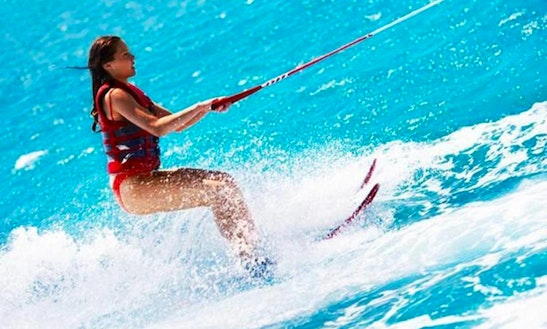 Enjoy Waterskiing In The Beautiful And Calm Pollenca Bay!
