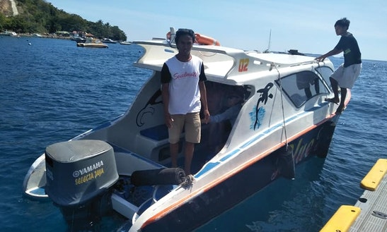 Enjoy Day Tours On This 6 Persons Cuddy Cabin Charter In Praya, Indonesia