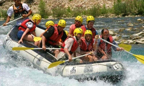 Enjoy Rafting With Your Friends In Antalya, Turkey