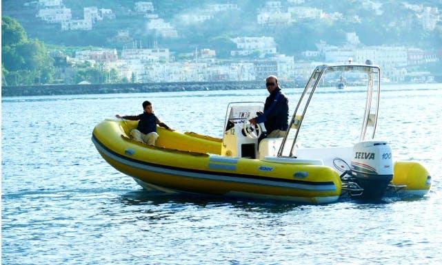 Hit the water in Capri, Campania on 20' Predator RIB