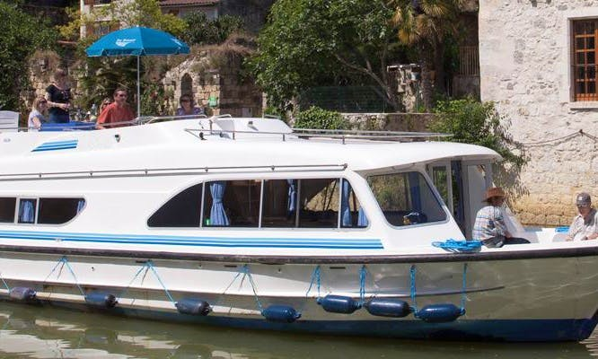 47' Canal Boat for 12 Person | The Meridonial Short Break Cruise in Canal du Midi, France