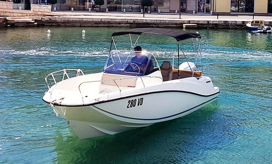 Quicksilver 675 Open Sport Center Console Charter In Tisno, Croatia For 8 People