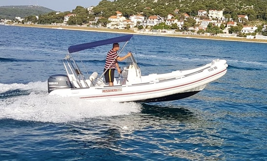Maestral 560 Rigid Inflatable Boat Charter In Tisno, Croatia For 6 People