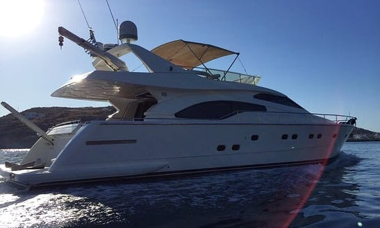 Have An Amazing Time In Nicosia, Cyprus On 68' Ferretti Power Mega Yacht